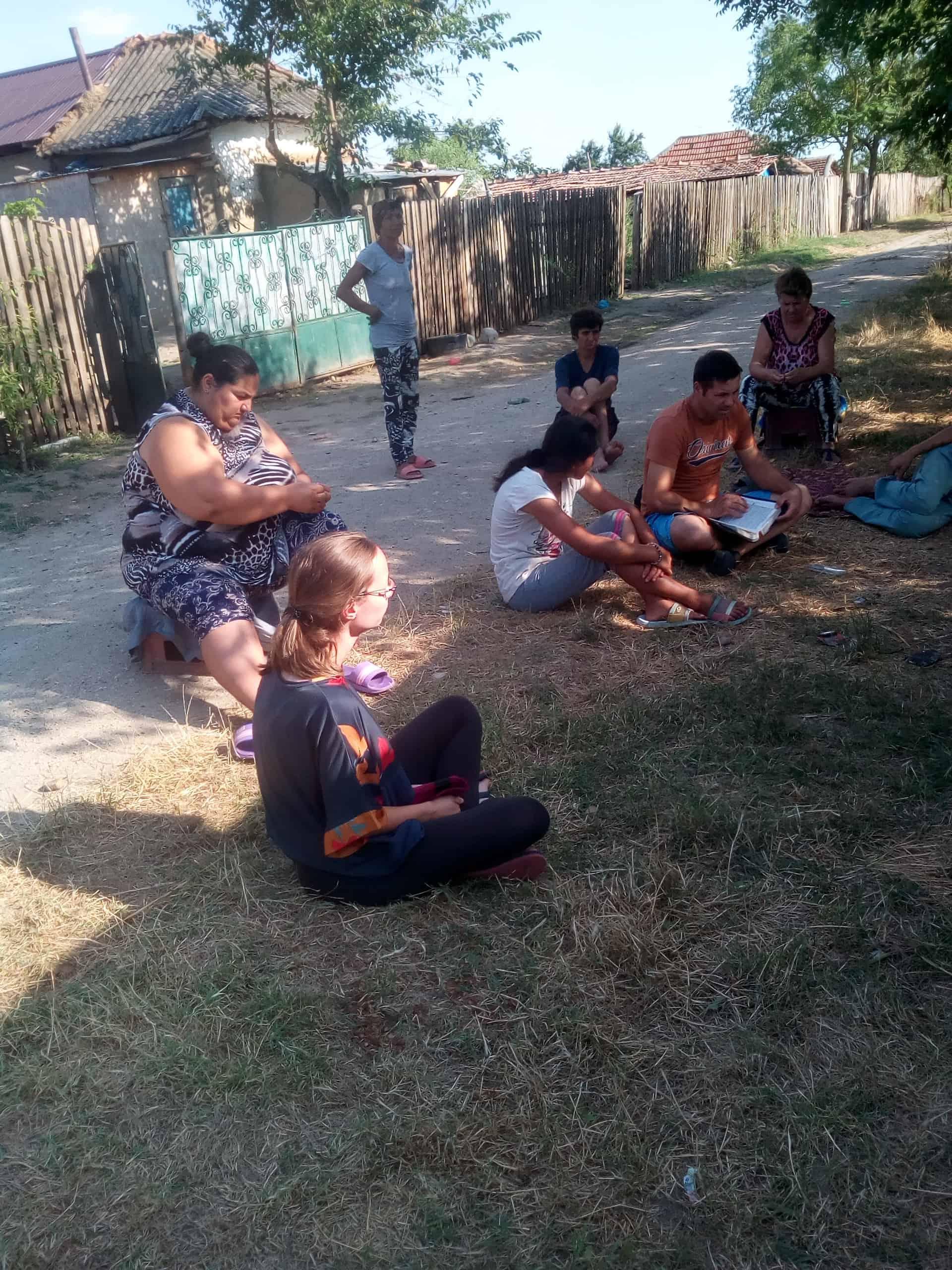 Besuch bei der Romafamilie